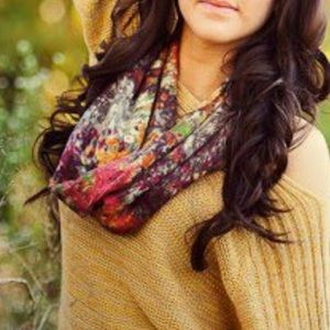 Anthropologie Madison 88 floral infinity scarf